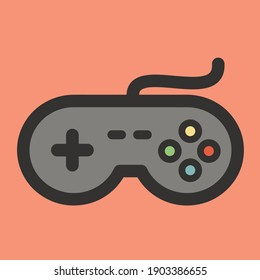 Joystick Controller, Analog Joystick, and Game Pad Stick Vector Illustration. Flat Cartoon Style Suitable for Sticker, Wallpaper, Icon, etc.