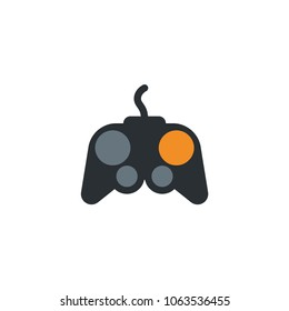 Joystick, game, gamer controller playing player icon symbol vector illustration flat cartoon character style object