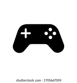 Joystick gaming vector icon.  Controller  console icon. The symbol for the computer and mobile phone numbers, web site, laptop. Game joystick Illustration EPS 10