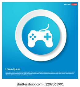 Joystick Icon Abstract Blue Web Sticker Button - Free vector icon