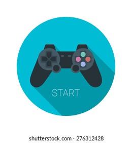 joystick icon flat vector app application logo game