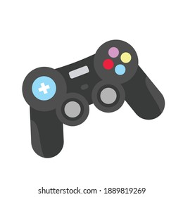 Joystick icon for gamepad illustration, design element, Console for video game. Vector game illustration