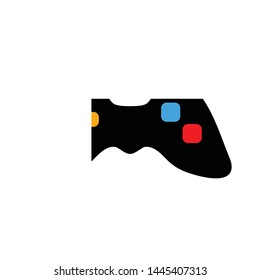 joystick icon. Logo element illustration. joystick sign symbol design. colored collection. joystick concept. Can be used in web and mobile