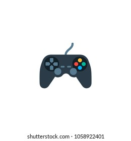 Joystick icon. Vector color flat joystick