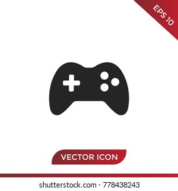 Joystick icon vector, game symbol. Play pictogram, flat vector sign isolated on white background. Simple vector illustration for graphic and web design.