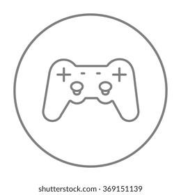 Joystick line icon.