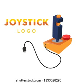 Joystick Logo Yellow Retro Joystick Icon Vector Image