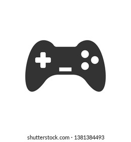 Joystick sign icon in flat style. Gamepad vector illustration on white isolated background. Gaming console controller business concept.