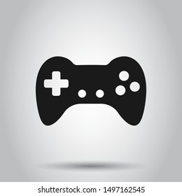 Joystick sign icon in flat style. Gamepad vector illustration on isolated background. Gaming console controller business concept.