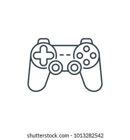 Joystick sign icon, line icon