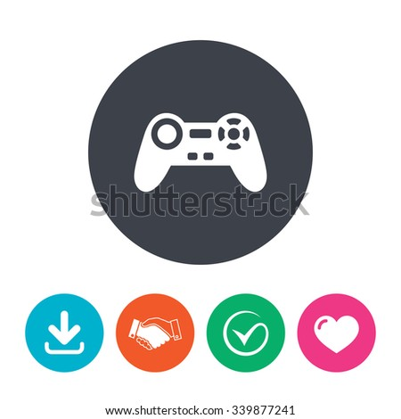 Joystick Sign Icon Video Game Symbol Stock Vector (Royalty
