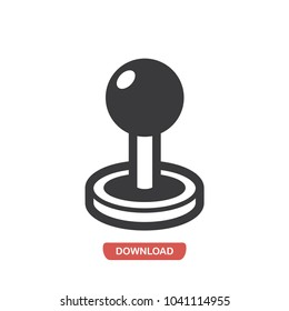 Joystick vector icon. Console,button symbol flat vector sign isolated on white background. Simple vector illustration for graphic and web design.