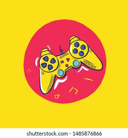 Joystick vector icon. freehand Simple vector illustration for graphic and web design