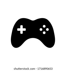 Joystick vector icon. Game console symbol. Vector illustration isolated on white background.