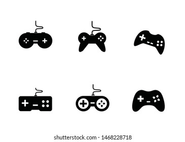 joystick vector icon. game controller set