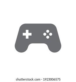 Joystick videogame controller. Gamer controlling device vector icon.