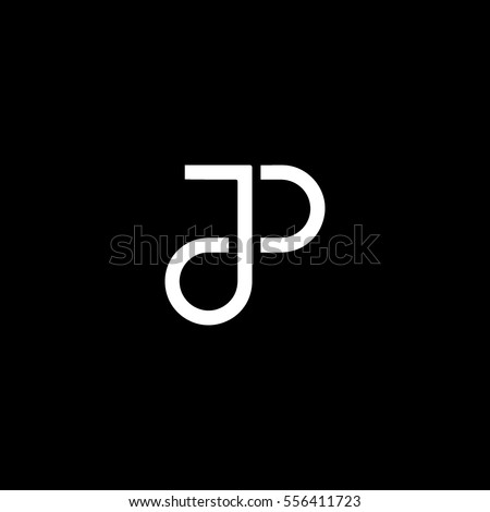 jp letter based icon logo stock vector royalty free 556411723