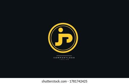 JP Letter Business Logo Design Alphabet Icon Vector Symbol