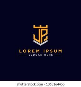 JP letter Initial icon / logo design Monogram inspiration. - vector