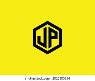 JP letter logo design vector templat