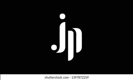 JP logo design template vector illustration