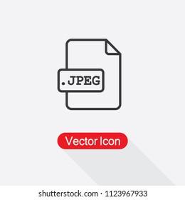 JPEG File Icon Vector Illustration Eps10