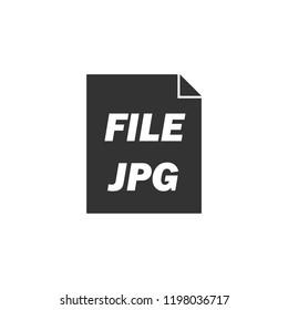 JPEG icon flat. Icon Flat