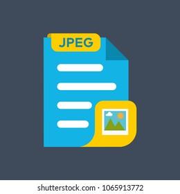 JPEG image file format icon