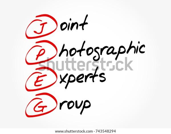 acronym of jpeg