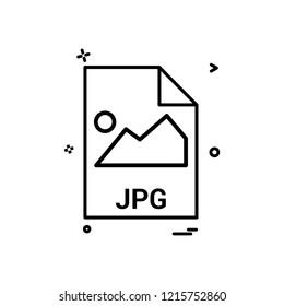 jpg file file extension file format icon vector design