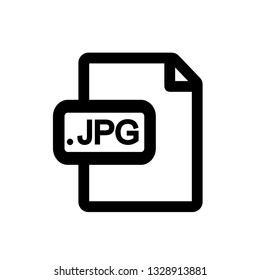 JPG file format icon,vector illustration. Flat design style. vector JPG file format icon illustration isolated on White background, JPG file format icon Eps10.