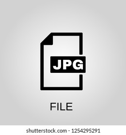 Jpg file icon. Jpg file concept symbol design. Stock - Vector illustration can be used for web