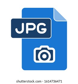 jpg icon. flat illustration of jpg vector icon. jpg sign symbol