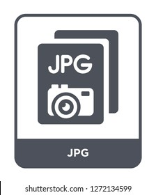 jpg icon vector on white background, jpg trendy filled icons from File type collection, jpg simple element illustration