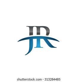 JR initial company blue swoosh logo
