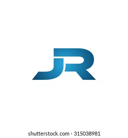 JR initial company linked letter logo
