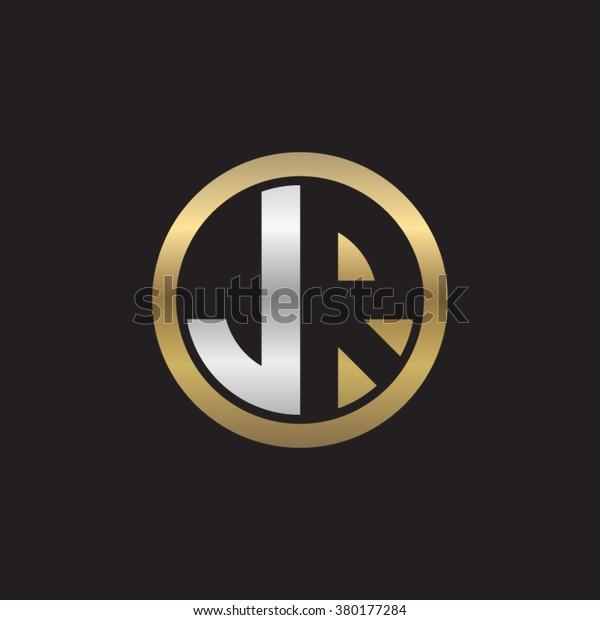 Jr Initial Letters Circle Elegant Logo : Image Vectorielle