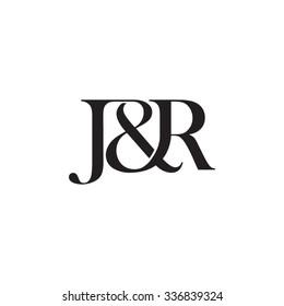 J&R Initial logo. Ampersand monogram logo
