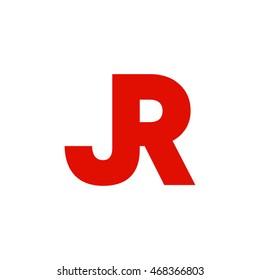 jr initial logo design