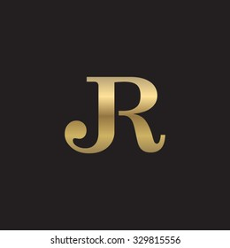 JR initial monogram golden logo