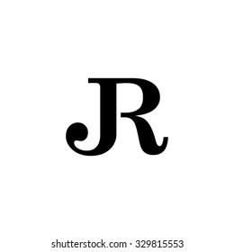 JR initial monogram logo