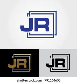 JR Letter Design - Initials Logo - Cool Logo Designs