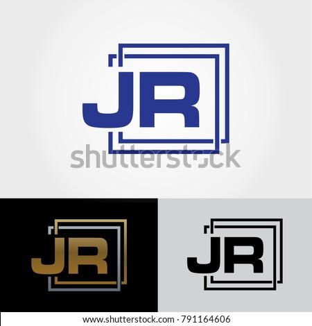 Jr Letter Design Initials Logo Cool Stock Vector Royalty Free