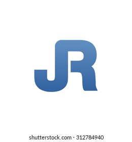 JR letter icon logo connected