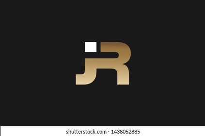 JR Letter Logo Design Template Vector