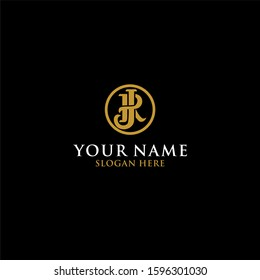 JR letter typography logo design. Luxury logo vector download.