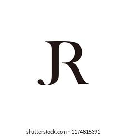 jr letter vector logo