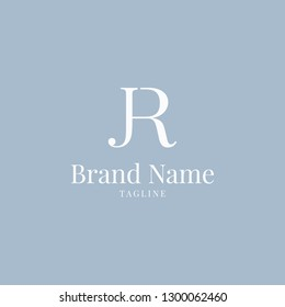 JR logo elegance skyblue