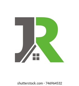 JR logo initial letter design template vector
