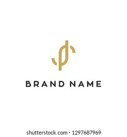 JR monogram logo design
